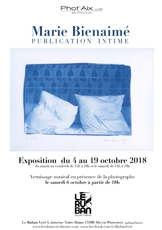 Parcours Phot'aix 2018, le ruban vert, marie bienaime, artiste photographe, lyon, aix en provence