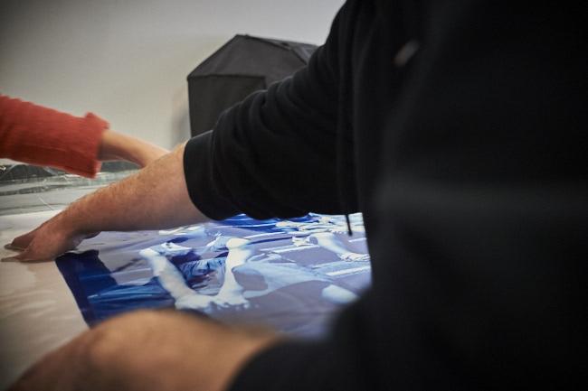 Marie bieniame artiste photographe lyon, cyanotype, grand format, photographie
